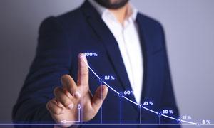 绘制统计图的商务人物创意高清图片
