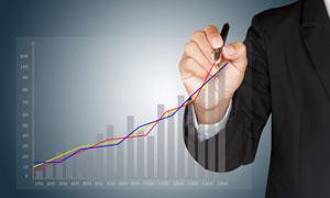 在画统计图的职场人物创意高清图片