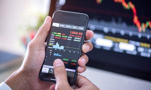 手机上的股市大盘涨跌图表高清图片