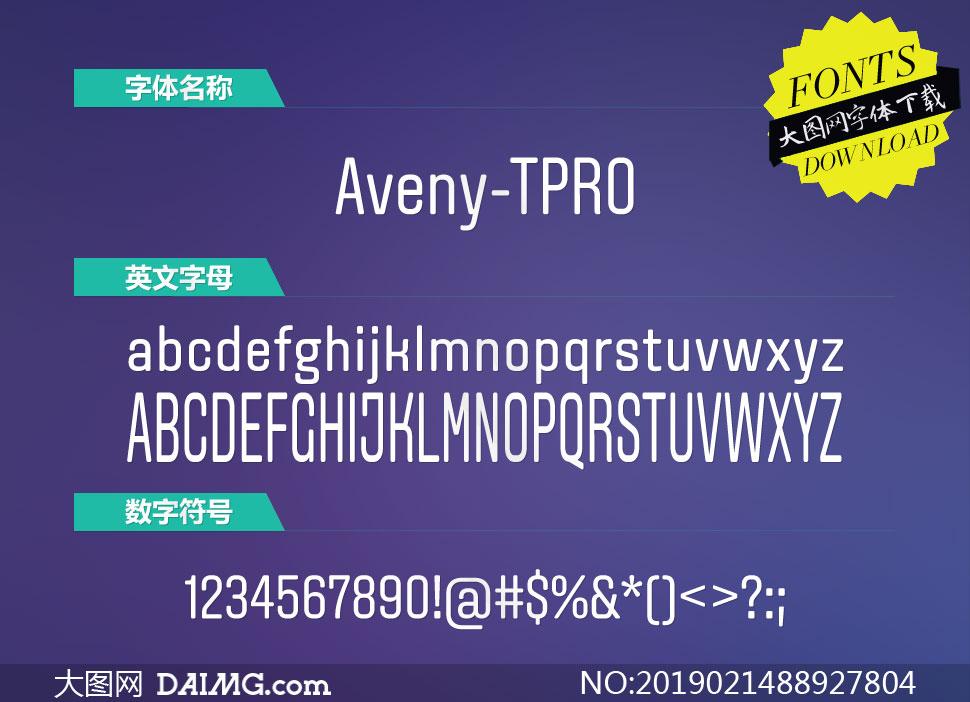 Aveny-TPRO-Regular(英文字体)