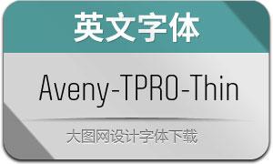 Aveny-TPRO-Thin(英文字体)