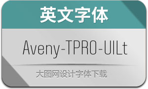 Aveny-TPRO-Ultralight(英文字体)