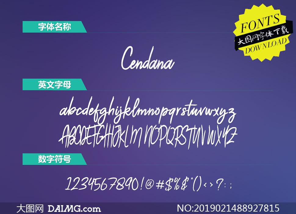 Cendana(英文字体)