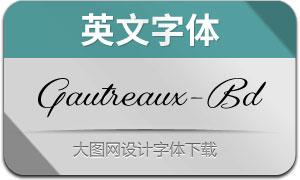 Gautreaux-Bold(英文字体)