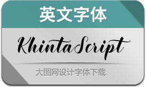 KhintaScript(英文字体)