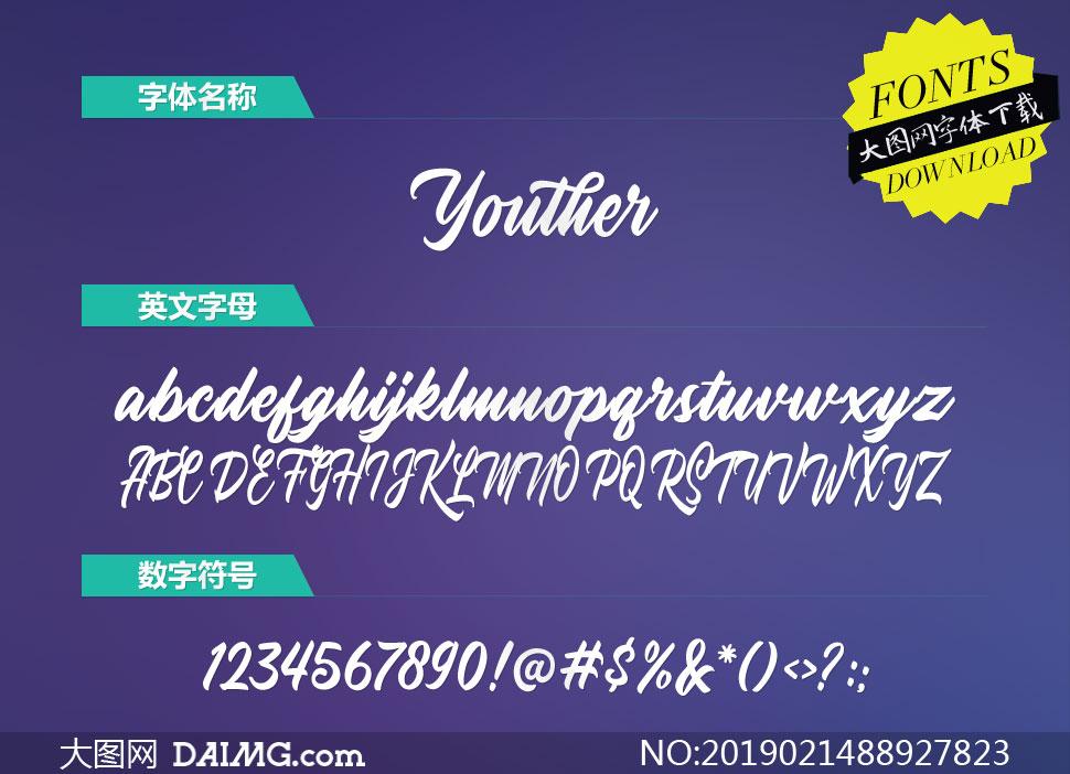 Youther系列6款英文字体