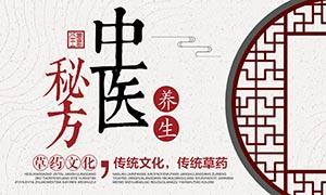 中医秘方养生宣传海报PSD源文件