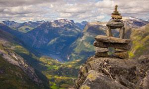 欲与天比高的高山风光摄影高清图片