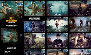 中文版战争类游戏场景特效PS动作