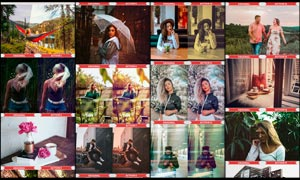 25款中文版生活照片后期调色PS动作