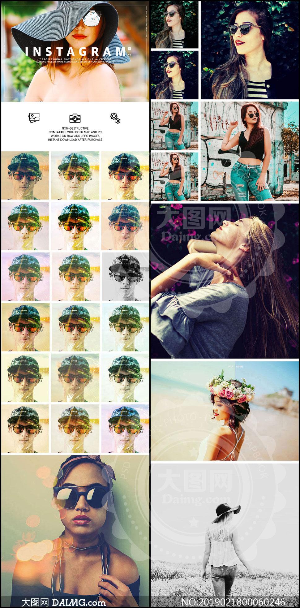 中文版Instagram滤镜复古效果PS动作V2