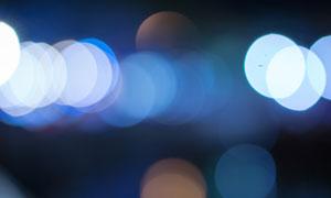 夜晚灯光虚焦效果梦幻摄影高清图片