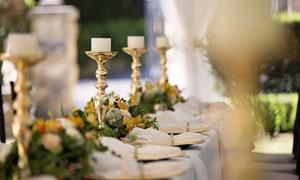 婚礼现场宴席布置效果摄影高清图片