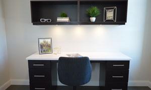 房间里的绿植与桌椅等摄影高清图片