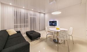 客厅桌椅沙发布置陈设摄影高清图片
