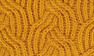黄色毛衣针织效果纹理背景高清图片