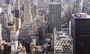 城市住宅区建筑群鸟瞰摄影高清图片