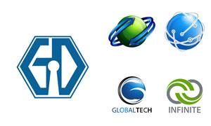 蓝色商务科技风格标志创意矢量素材