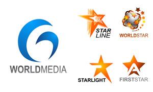 五角星等元素标志创意设计矢量素材