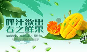 新鲜芒果宣传海报设计PSD源文件