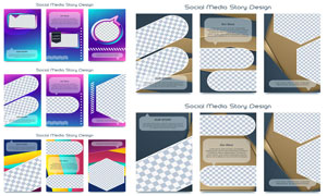 多用途卡片图文设计模板矢量素材V2