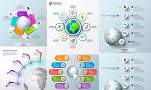 地球元素展现的信息图创意矢量素材