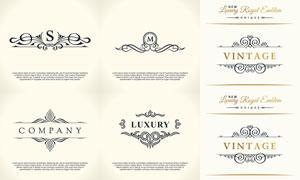 复古花纹装饰图案创意矢量素材V08