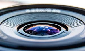 数码相机镜头炫丽效果微距摄影图片