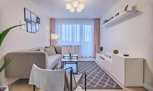 现代简约风格客厅装修效果高清图片