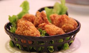 美味油炸食品近景特写摄影高清图片