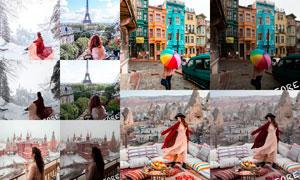 旅游人像色彩美化和调亮LR预设
