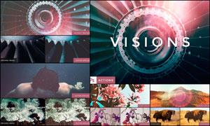 中文版VISIONS系列漏光效果PS动作V3