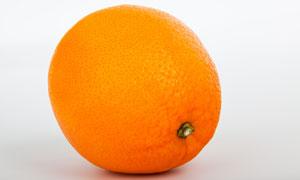 一颗个头饱满的大橙子摄影高清图片