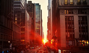 夕阳中的城市建筑美景摄影高清图片