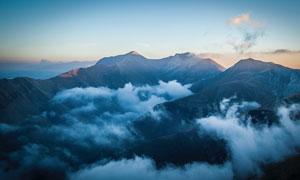 高山云海风光鸟瞰视角摄影高清图片