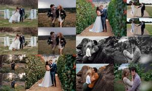 浪漫婚礼照片质感胶片和黑白效果LR预设