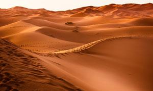 大漠上连绵的?#22478;?#39118;光摄影高清图片