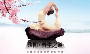 瑜伽养生之道宣传海报设计PSD素材