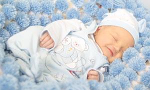 进入甜美梦乡的小宝贝摄影高清图片