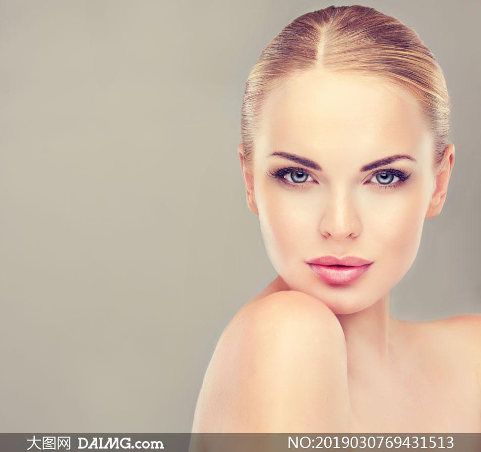 妆容护肤美女人物特写摄影高清图片