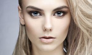 长发造型妆容美女人像摄影高清图片