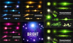 多款炫丽光效元素设计矢量素材集V02