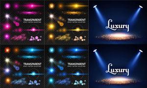 多款炫丽光效元素设计矢量素材集V03