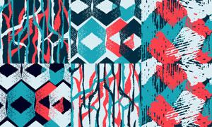 抽象线条元素无缝背景设计矢量素材