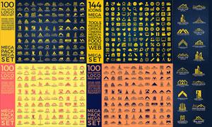 几百款房地产主题标志设计矢量素材