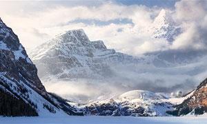 連綿的雪山全景圖作品PS教程素材