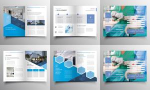 画册内页简约风格版式设计矢量素材