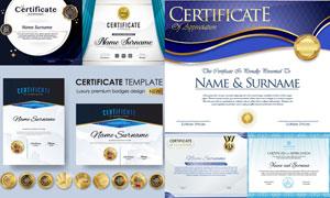 多種多樣的授權書與證書等素材V106