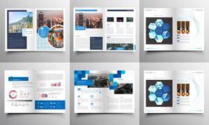多种用途的画册出版物设计矢量素材