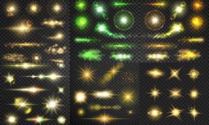 多款炫丽光效元素设计矢量素材集V05